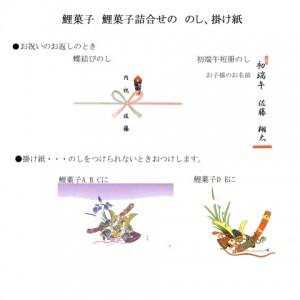 鯉菓子ののし掛け紙